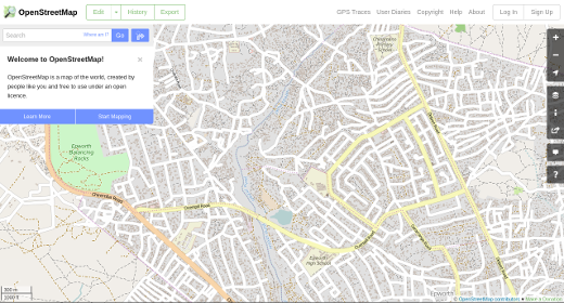 Digital maps with OpenStreetMap