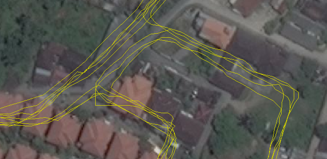 Comparing imagery offset from GPS tracks