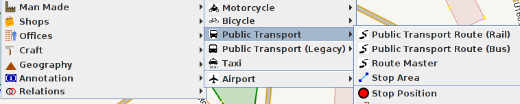 Public transport preset