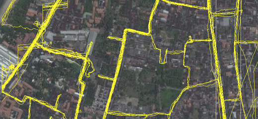 osm gps tracks many