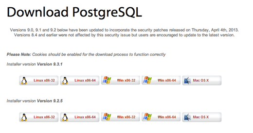 postgresql version