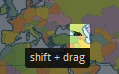 shift and drag