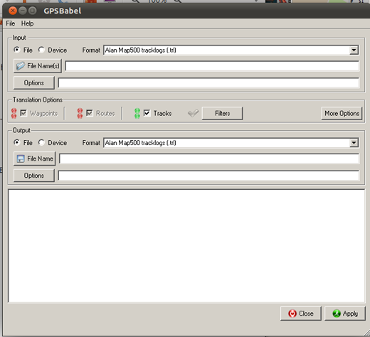 GPSBabel Interface