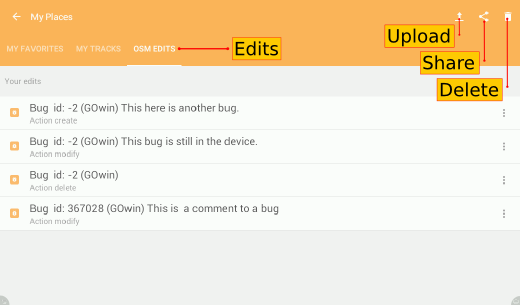 locally saved bugs