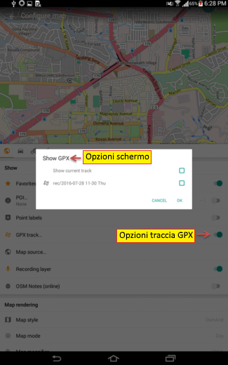 Display GPS tracks