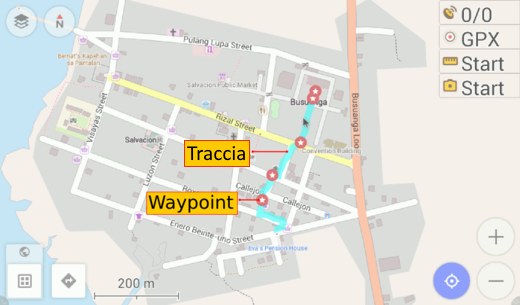 Show GPS tracks and waypoints
